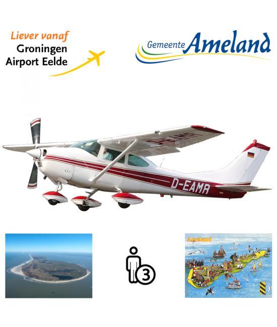 Proefles | Vliegles Cessna 182 Eelde - Ameland - Eelde (eilandvlucht)