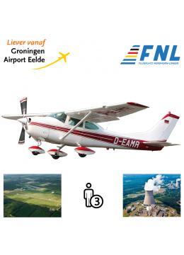 Proefles | Vliegles Cessna 182 Eelde - Nordhorn-Lingen - Eelde  (Duitsland)