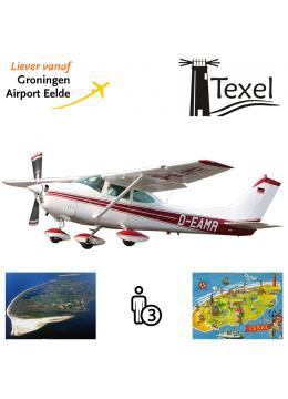 Proefles | Vliegles Cessna 182 Eelde - Texel - Eelde (eilandvlucht)