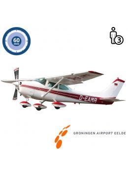 Trail lesson | Flight lesson | Sightseeing Flight Cessna 182 Skylane Groningen Airport Eelde  (60 minutes)